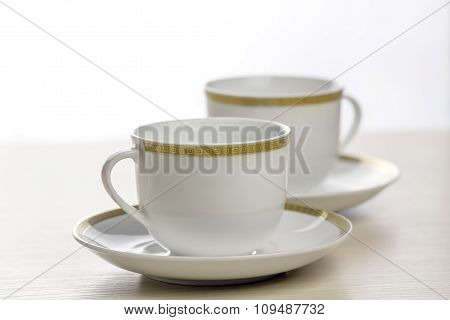White Coffee Cups.