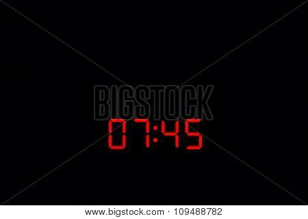 Digital Watch 07:45