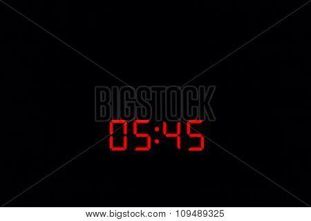 Digital Watch 05:45