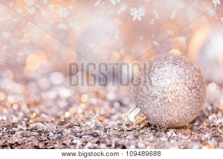Super macro photo of christmas decoration, low depth of focus