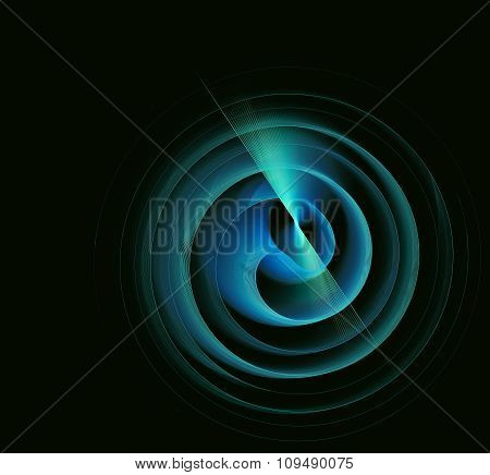 Abstract Fractal Figure Rotational Motion For Design