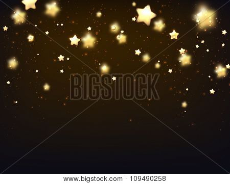 Background with stars. Vector paper illustration.