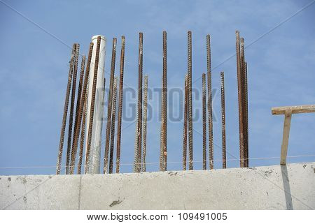 Column reinforcement bar leave abandoned