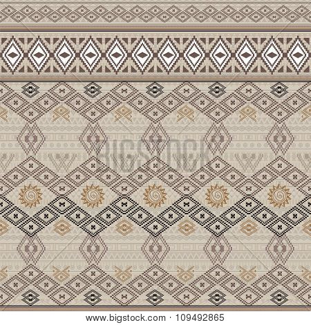 Vector Seamless Texture. Ethnic Tribal Geometric Pattern