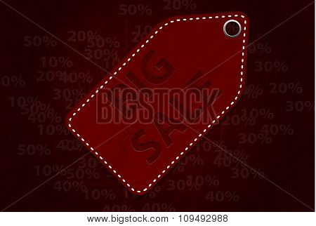 illustration sticker that says big sale