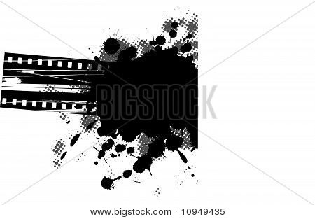 Abstract grunge background film design black and white.