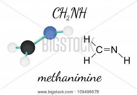 CH2NH methanimine molecule