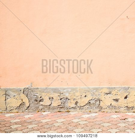 Cracked  Step   Brick In  Italy Old Wall And Texture Material The Background