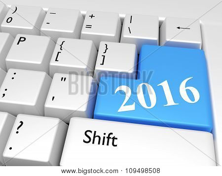 2016 New Year Over Keyboard