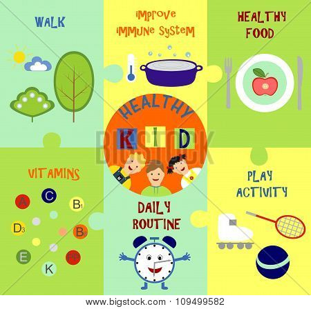 infographics on the topic of child health