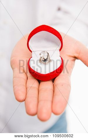 Closeup Photo Of A Man With A Wedding Ring
