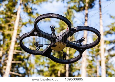 Spy Drone In The Woods