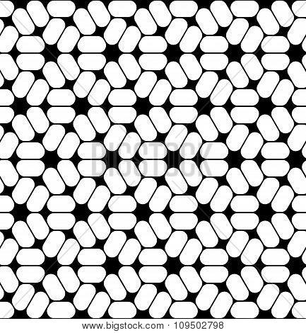 Vector modern seamless sacred geometry pattern trippy black and white abstract