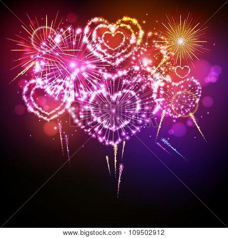 Vector Holiday Valentine Firework