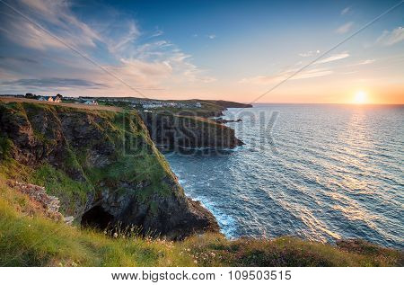 Sunset At Port Gaverne