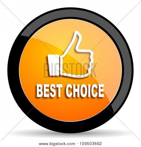 best choice orange icon