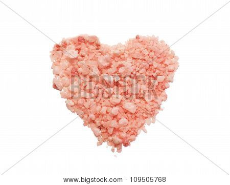 natural sea salt in the form of heart