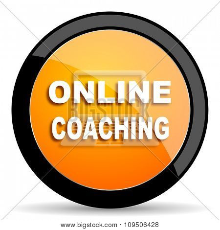 online coaching orange icon