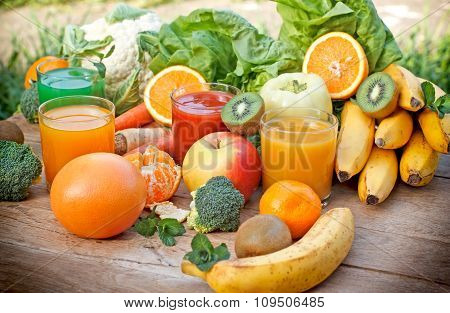 Fruit juices - freshly squeezed juices