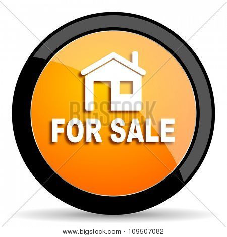 for sale orange icon