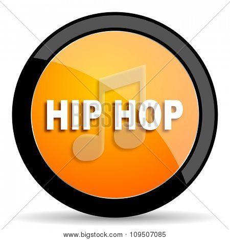 hip hop orange icon