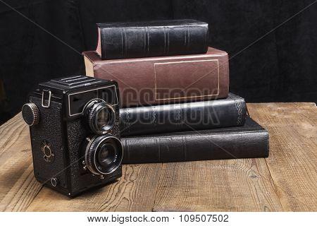 Camera On Wood