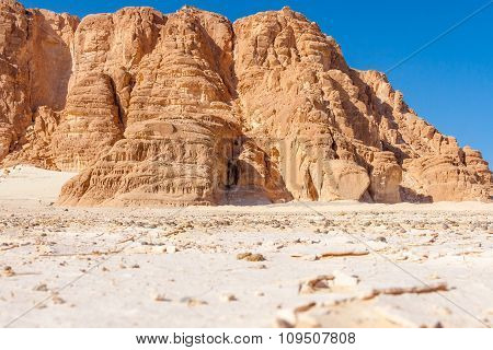 Blue Sky And Mountains In The Sinai Desert