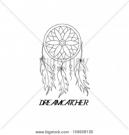 hand to draw a Dreamcatcher