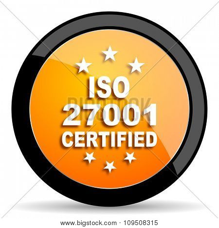 iso 27001 orange icon