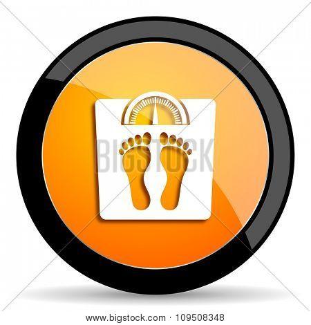 weight orange icon