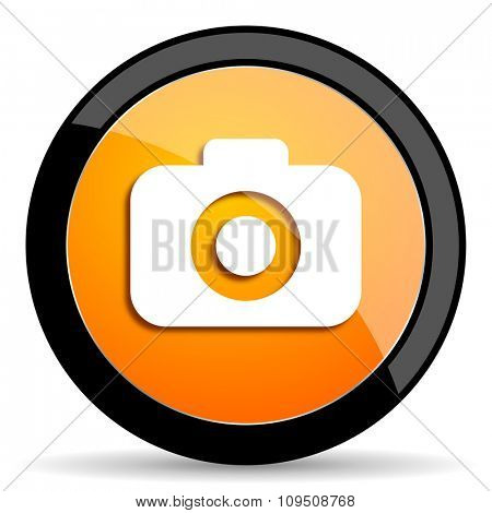photo camera orange icon
