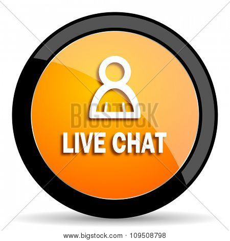 live chat orange icon