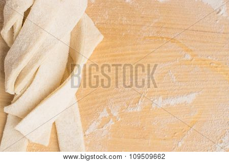 Unleavened Dough Strips Woven In Pigtails