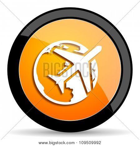 travel orange icon