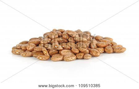 Pinto-beans, Isolated On White Background