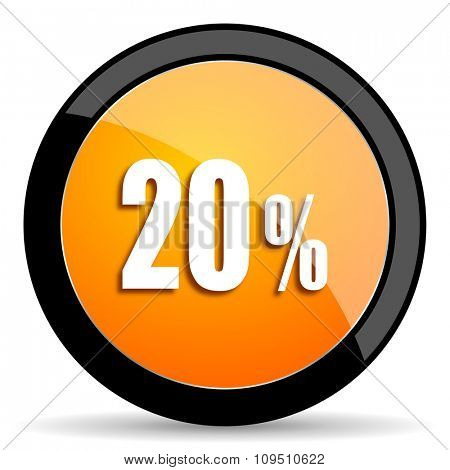 20 percent orange icon