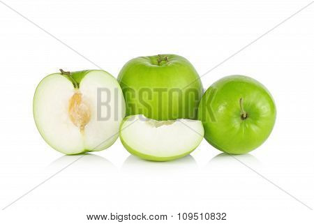 Jujube Fruit Isolated On White Background