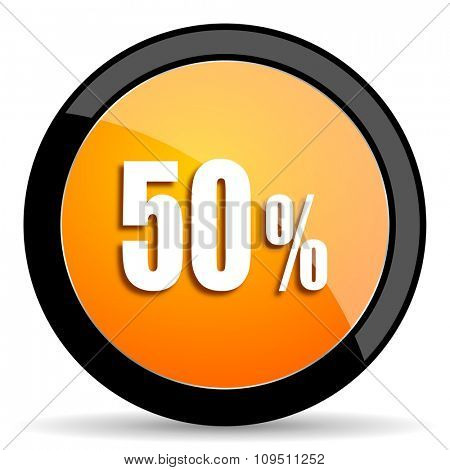 50 percent orange icon