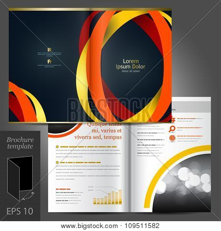 Black Brochure Template Design