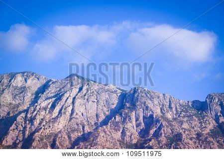 Landscape with the image of mountains