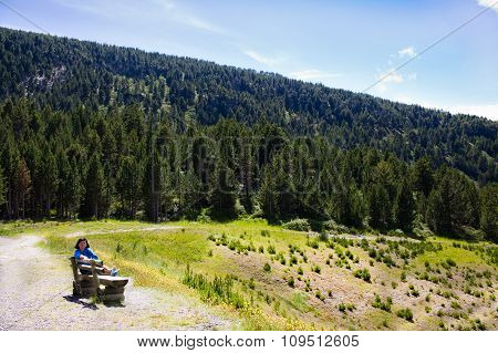 Bench In Pyrenees