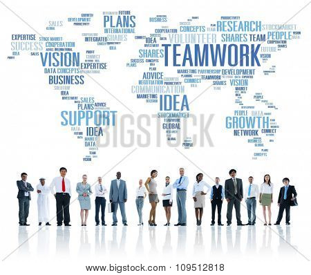 Global Business People Togetherness Support Teamwork Concept