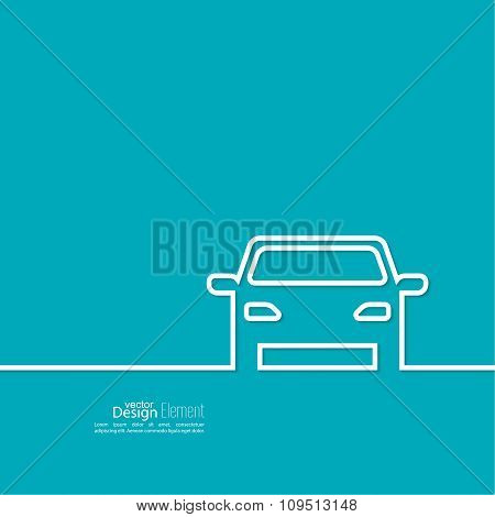 Abstract background with a car