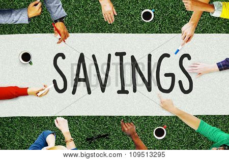 Savings Save Accounting Banking Money Concept