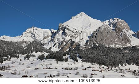 Majestic Mt Saentis In Winter