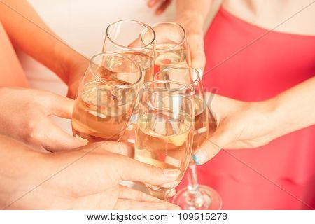 Closeup Photo Of Girls Celebrating A Bachelorette Party