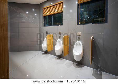 interior of modern toilet in buildings