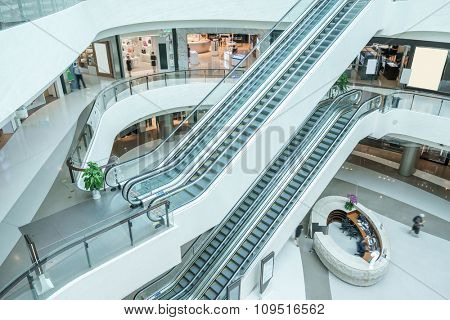 interior of modern shopping mall