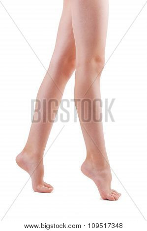 Two Bare Human Foot