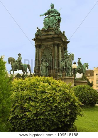 Maria-therisien Platz And Monument, Vienna, Austria